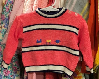 70s Train Sweater 9/12 Months