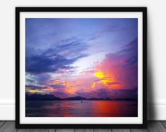 Lamma Sunset, Sunset Photography, Sunset Photo, Sunset Photo Prints, Beach Photo, Beach Photography Prints, Beach Art Print, Digital