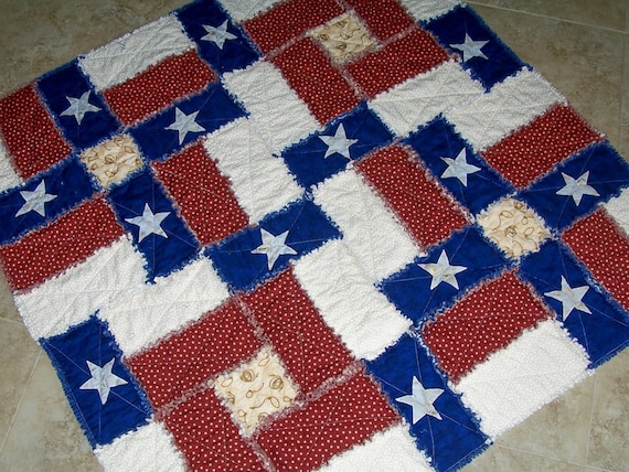 Pdf Pattern Texas Flag Rag Quilt Pattern Can Be Made With