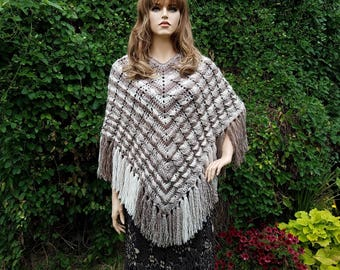 Crochet Cablelicious Poncho Pattern One Size Fits Most DIGITAL DOWNLOAD ONLY
