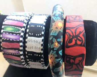 Unique Clay Bracelets  (Open for More)