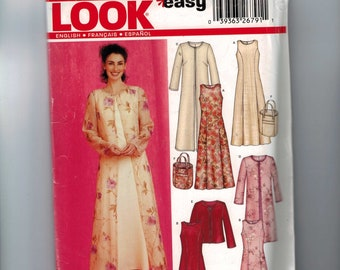 Misses Sewing Pattern New Look 6270 Misses A Line Dress Coat Size 10 12 14 16 18 20 22 Bust  32 33 34 36 38 40 42 44 UNCUT