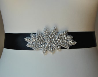 Rhinestone Sash, Bridal Sash,Wedding Dress Sash Belt, Rhinestone Bridal Bridesmaid Flower girl Sash Belt, Wedding dress sash