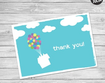 Disney UP Thank You Card / UP Thank You / Disney Thank You Card / Printable / Instand Download / Disney Party Thank You