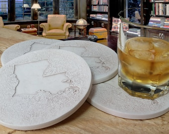 Louisiana Drink Coasters,  Absorbent Drink Coasters