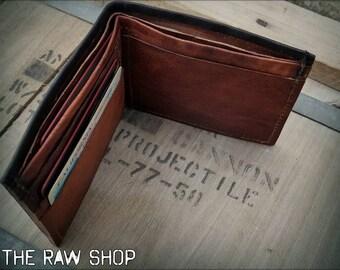 Minimalist Leather Wallet   Men's Leather Wallet   Leather Bifold Wallet   Slim Leather Wallet Card Holder   Personalized Leather Wallet Men