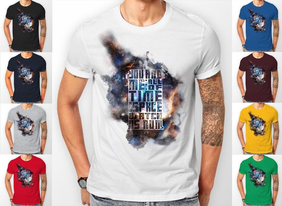 Doctor Who Tardis in Space, all of time and space quote, Tee shirt T-Shirt