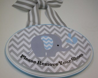 Baby Boys Room- Please Remove Your Shoes