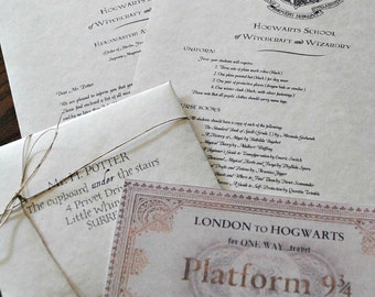 Personalized Harry Potter Letter - Hogwarts School of Witchcraft and Wizardry Acceptance Letter (Includes FREE Ticket on Hogwarts Express)