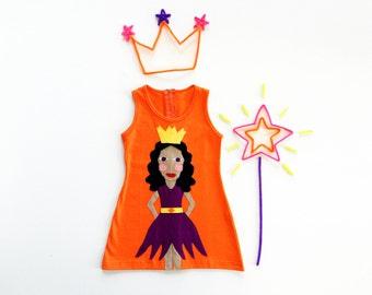 Girl's Dress, PRINCESS Dress, PRINCESS Clothing, Handmade Clothing, Applique Dress, Fairy Costume, Fairy Dress, Princess Costume