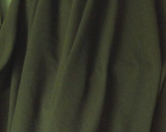 Olive Green Moss Crepe Fabric