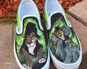 Custom Painted Slip On Vans
