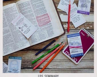 Student Study Cards for New Testament Doctrinal Mastery Scriptures