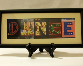 """Photo letter art """"Dance"""""""