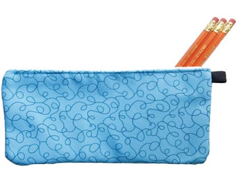 Sea Squiggles Pencil Case - Zippered Pouch