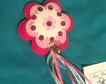 Plush Flower Fairy Wands - Pink