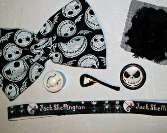 Hairbow - Headband - DIY Make your own - Nightmare Before Christmas -  6 pieces - Music
