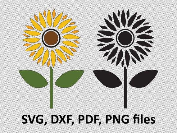 Sunflower Svg Sunflower Dxf Sunflower Clipart