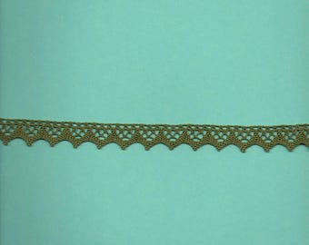 Green cotton lace wide 1.5 cm (colbert 7376)