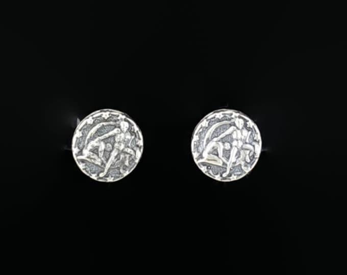 Sterling Silver Zodiac Stud Earrings Gemini
