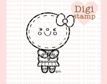 Gingerbread Girl Digital Stamp for Card Making, Paper Crafts, Scrapbooking, Hand Embroidery, Invitations, Stickers, Coloring Pages