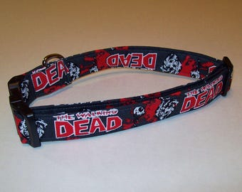 Dog Collar / Adjustable / Fun / The Walking Dead / Zombie