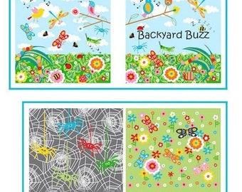"Blank - Backyard Buzz - 36"" x 44"" Fabric Story Book Panel - Fabric by the Panel 8247P-11"