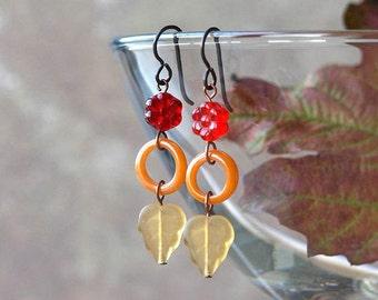 woodland earrings, woodland jewelry, woodland jewellery, FOREST FLOOR, hypoallergenic titanium earwires