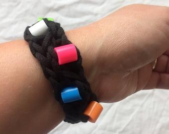 Black Sensory Fidget Bracelet