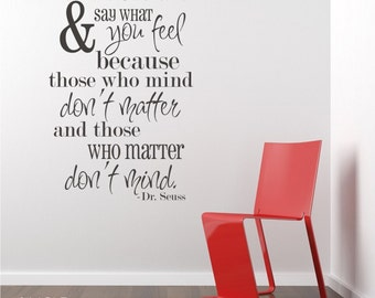 Nursery Be Who You Are Seuss Wall Decals Quote - Vinyl Wall Words Custom Home Decor