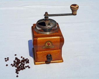 Vintage coffee grinder antique coffee mill rustic kitchen decor coffee lover gift hand coffee mill primitive kitchen tools old coffee mill