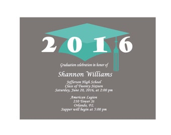 High School Graduation Invitations - Grad Party Invites - College Graduation Party Invitations - Graduation Tassels - Grad Invites 390