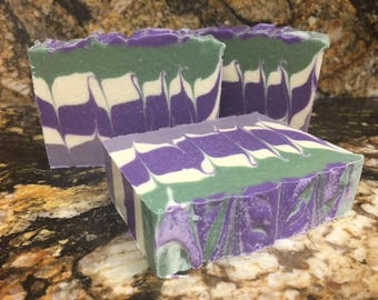 Blackberry Sage Goat Milk Soap created by Nanny's Udderly Smooth