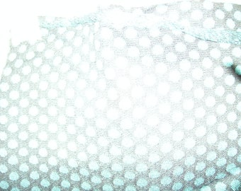 NO. 197-FABRIC BLACK WOOL KNIT HAS TURQUOISE DOTS