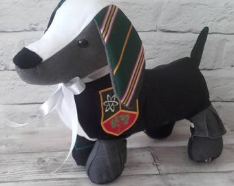 Dachshund Memory Keepsake - Baby Clothes, School Uniform, Sports Kit, Christening Gift, Remembrance Bear, cherished clothing, keepsake dog