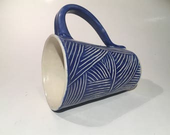 Pottery Mug - Handmade Mug, Ceramic Coffee Mug, Ceramic Mug, Blue Mug, Coffee Cup, Pottery, Mug, Pottery Gift