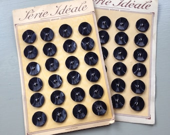 Vintage French button cards set of 2