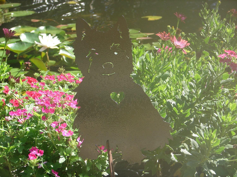 West highland terrier garden stake pet dog memorial yard lawn zoom kristyandbryce Images