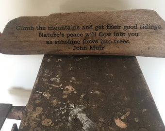 California Driftwood-etched nature poem by John Muir