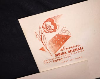 Moina Michael US Post Office First Day Envelope