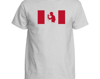 Gord Downie Flag T-Shirt.  Support Brain Cancer Research.