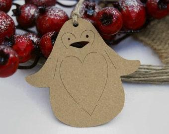 X24 Penguin Christmas tags Gift tags Christmas Labels