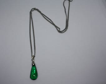 Pendant with green drop