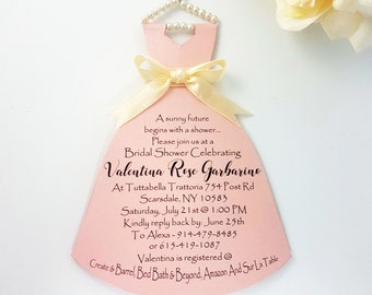 Personalized Bridal Shower Card Handmade Bridal Shower Card Wedding Dress Wedding Shower Card Bridal Shower Dress Card Wedding Shower Card