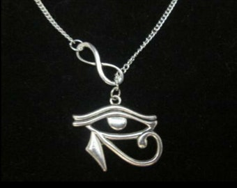 Silver Infinity 'Eye of Horus' Necklace