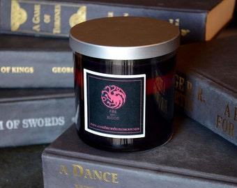 House Targaryen Game of Thrones Candle