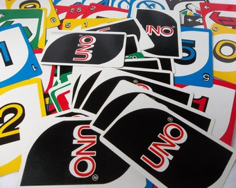 Set of 40 UNO cards to use for collage, scrapbooks, banners, etc - Uno pieces - UNO game pieces