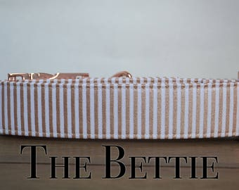Dog Collar, Rose Gold Dog Collar, Striped Dog Collar, Girly Dog Collar, Fashion Dog Collar, Dog Collar for girls, Dog Collar Rose Gold, Dogs