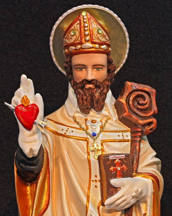 """St. Augustine 20"""" Patron Saint of Brewers and Against Vermin"""
