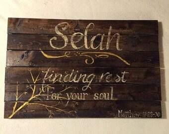 Selah sign